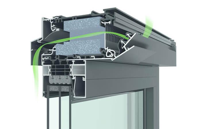 Ventilatieroosters in ramen voor een ventilatiesysteem C 1
